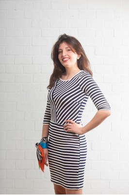 VESTIDO Niblaze 2 Dress Yarn dyed 20603574 FRANSA